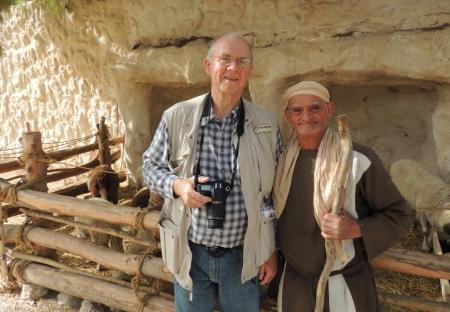 Shepherd at Nazareth Village. Photo by Mike Eison.