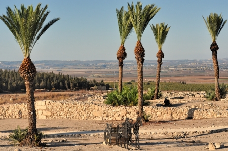 Solomon's Stables at Megiddo. Photo by Leon Mauldin.