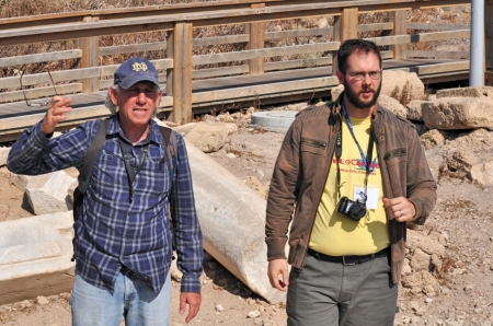 Our Israeli guide, Zack, and my son, Seth. Photo by Leon Mauldin.