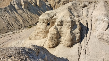 Qumran Caves, on western side of the Dead Sea. Photo by Leon Mauldin.