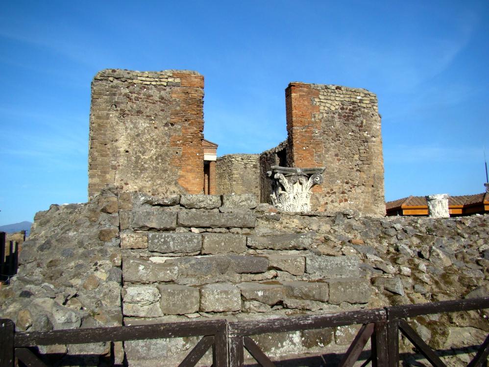 Temple of Fortuna Augusta, Pompeii. Photo by Leon Mauldin.